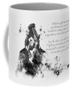Strider Black And White Coffee Mug