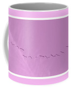 String Of Birds In Rose Pink Coffee Mug