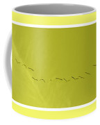 String Of Birds In Yellow Coffee Mug