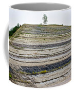 Striped Bank On Side Of A Road In Northwest North Dakota Coffee Mug