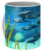 Striped Dolphins Coffee Mug