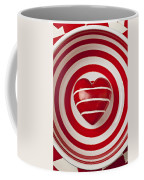 Striped Heart In Bowl Coffee Mug by Garry Gay