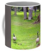 Strolling Canadian Geese Coffee Mug