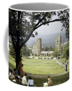 Students Sit On A Hill Overlooking Coffee Mug by Volkmar Wentzel