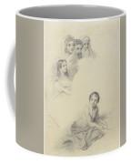 Studies Of Children And Some Adults, Cornelis Kruseman, 1814 Coffee Mug