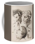 Studies Of Heads Anonimo, Blooteling Abraham Coffee Mug