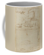 Studies Of Lago Maggiore And And The Entrance To A Palazzo Coffee Mug