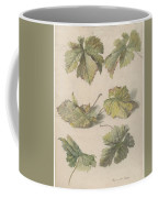 Studies Of Vine Leaves, Willem Van Leen, 1796 Coffee Mug