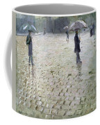 Study For A Paris Street Rainy Day Coffee Mug by Gustave Caillebotte