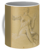 Study Of A Female Figure Seated On Clouds Coffee Mug