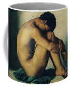 Study Of A Nude Young Man Coffee Mug by Hippolyte Flandrin