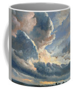 Study Of Clouds With A Sunset Near Rome Coffee Mug