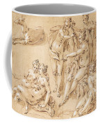 Study Of Diana With Her Nymphs And Hounds Coffee Mug