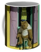 Stuffed Bear Chained To A Door Coffee Mug