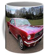 Stunning 1966 Metallic Red Mustang Coffee Mug