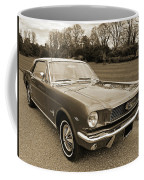 Stunning '66 Mustang In Sepia Coffee Mug