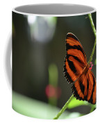 Stunning Orange And Black Oak Tiger Butterfly In Nature Coffee Mug