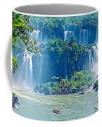 Subtropical Vegetation Surrounds Waterfalls In Iguazu Falls National Park-brazil Coffee Mug