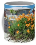 Suburban House On Orchard Avenue With Poppies Hayward California 3 Coffee Mug