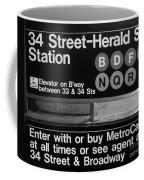 Subway 34 Street Coffee Mug