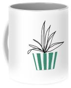 Succulent In Green Pot 3- Art By Linda Woods Coffee Mug