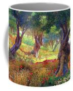 Poppies And Olive Trees Coffee Mug