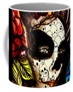 Sugar Skull In Blue  Coffee Mug