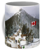 Sulphur Mountain In Banff National Park In The Canadian Rocky Mountains Coffee Mug