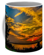 Summer Sunset Over The Delaware River Coffee Mug