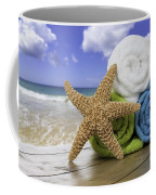 Summer Beach Towels Coffee Mug by Amanda Elwell