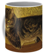 Summer Cat On A Balustrade Coffee Mug