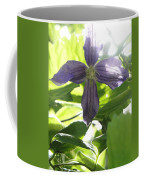 Summer Clematis In Light Shade Coffee Mug