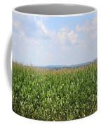 Summer Corn And Blue Skies In Maine  Coffee Mug