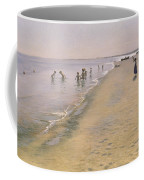Summer Day At The South Beach Of Skagen Coffee Mug by Peder Severin Kroyer