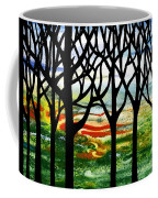 Summer Forest Abstract  Coffee Mug