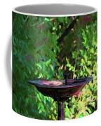 Summer Fountain Impasto Coffee Mug