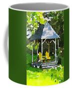 Summer Gazebo With Yellow Chairs Coffee Mug