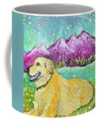 Summer In The Mountains With Summer Snow Coffee Mug