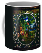 Summer Stained Glass Panel Coffee Mug