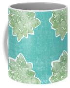 Summer Succulents- Art By Linda Woods Coffee Mug