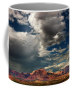 Summer Thunderstorm Clouds Form Over West Temple Zion National Park Utah Coffee Mug