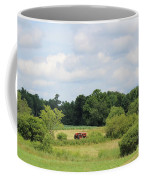 Summer Tractor In Field Corinna Maine Coffee Mug