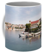summer vacation scene Neos Marmaras Greece Coffee Mug