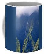Summer Waterfall Behind Hanalei Bay Coffee Mug
