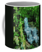 Summer Waterfall In West Milton Coffee Mug