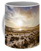 Sun Above Lake Argentino Coffee Mug