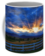 Sun Beams In The Sky At Sunset Coffee Mug by James BO  Insogna