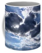 Sun Breaking Through The Clouds Coffee Mug by Mariola Bitner
