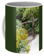 Sun Flower Fence Coffee Mug