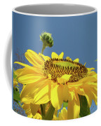 Sun Flowers Summer Sunny Day 8 Blue Skies Giclee Art Prints Baslee Troutman Coffee Mug